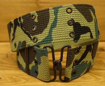 "Canvas riem  "" Camouflage  ""   5,5 cm breed"