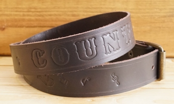 "Buckle riem ""  Country music ""  Donker bruin"