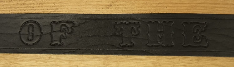 "Buckle riem ""  King of the road  ""  Zwart"