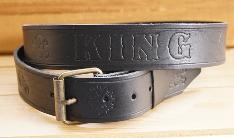 "Buckle riem ""  King of the Road ""  Motor  Zwart"