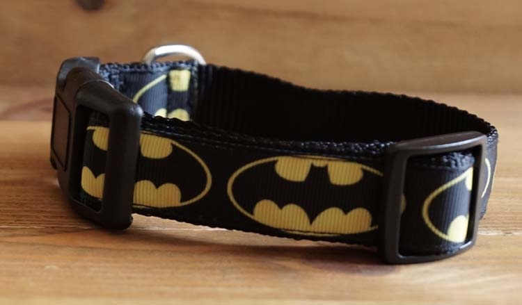 "Canvas hondenhalsband  "" Batman """