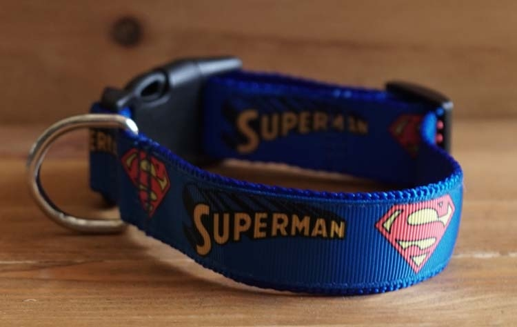 "Canvas hondenhalsband  "" Superman """